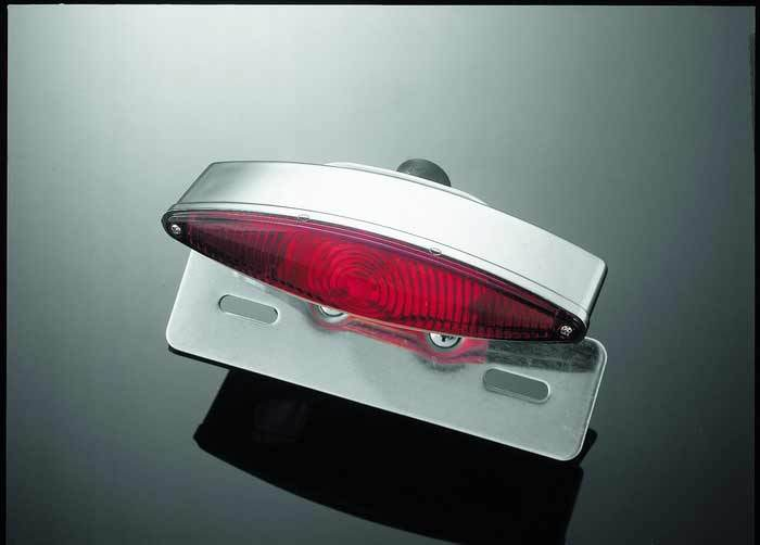 TECH GLIDE TAILLIGHT E-MARK COMPLETE WITH LICENSE PLATE HOLDER