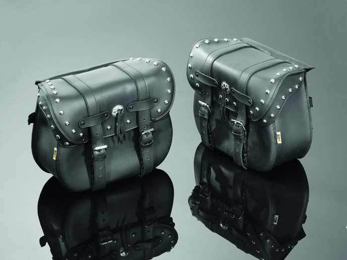 SADDLEBAGS 39X15X30 REAL STUDDED