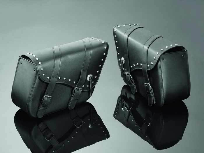 SADDLEBAGS 50X16X30 REAL STUDDED