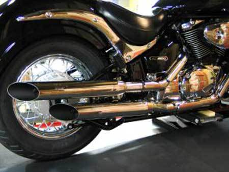 LS*EXHAUST SLASHCUT FOR SUZUKI VL800 VOLUSIA