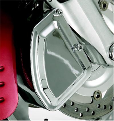 Left Side 55-107L Show Chrome Front Brake Caliper Cover