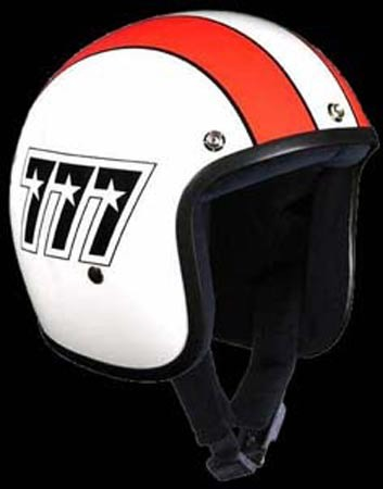BANDIT JET WHITE & RED STRIP L