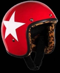 BANDIT JET RED & WHITE STAR XL- LEOPARD