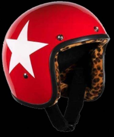 BANDIT JET RED & WHITE STAR XXL- LEOPARD