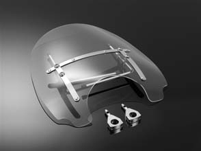 UNIVERSAL WINDSHIELD USA STYLE FOR 25MM HANDLEBARS