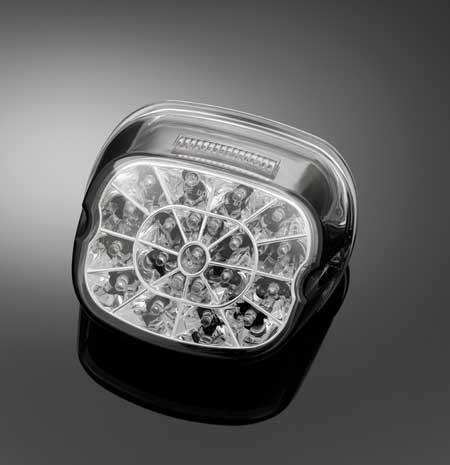 LED HARLEY DAVIDSON TAILLIGHT, SMOKE LENS E-MARK