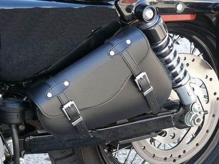 REAL LEATHER SWINGARM SADDLEBAG XL SPORTSTER PLAIN