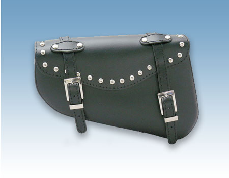 REAL LEATHER SWINGARM SADDLEBAG FOR SPORTSTER STUDDED