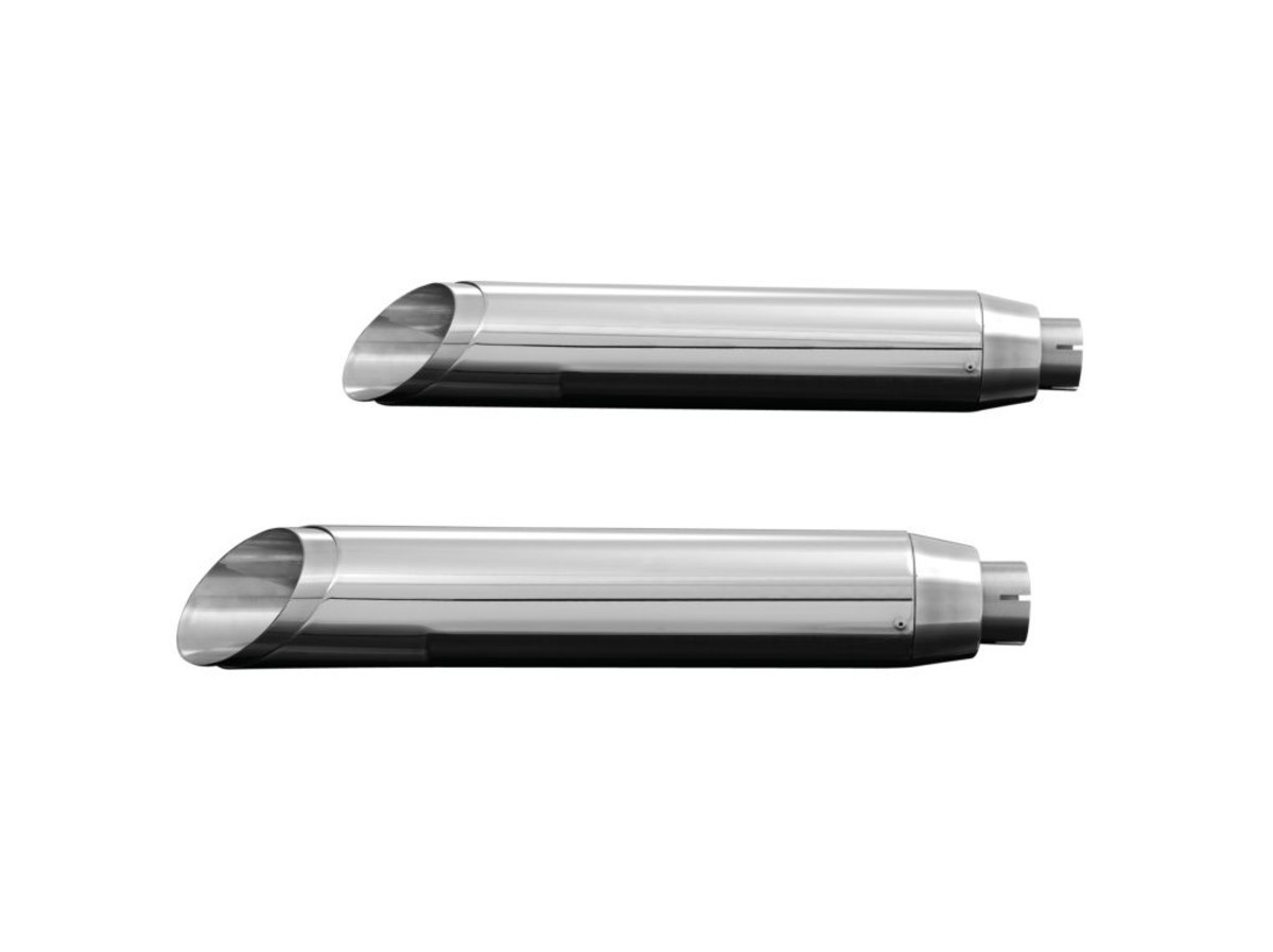 MUFFLERS SLASHCUT, CHROME, FXSTB NIGHT TRAIN 00-05