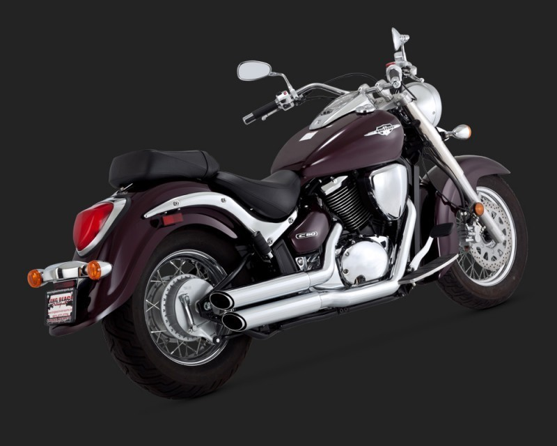 VANCE & HINES TWIN SLASH STAGGERED M50/C50 05-09 CHROME