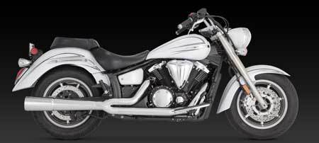 VANCE & HINES PRO PIPE CHROME FOR YAMAHA XVS1300 MIDNIGHT STAR 07-UP