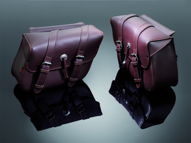 SADDLEBAGS TEK LEATHER BROWN (26X36X14 CM)