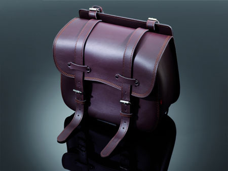 SADDLEBAG 'SINGLE SIDED' TEK 'BROWN' (40X43X20 CM)
