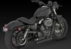 VANCE & HINES SHORTSHOTS STAGGERED BLACK FOR SPORTSTER 04-13