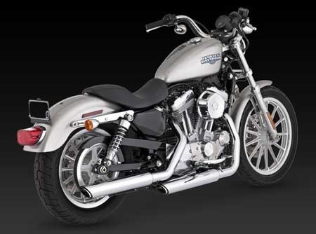 "VANCE & HINES TWIN SLASH 3"" SLIP-ON FOR HD SPORTSTER 04-13"