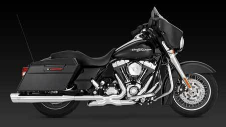 VANCE & HINES MONSTER OVAL SLIP-ONS FOR HD TOURING 95-UP