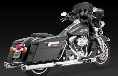 VANCE & HINES EC MONSTER OVAL SLIP-ONS FOR HD TOURING 09-14