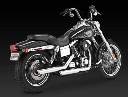 "VANCE & HINES TWIN SLASH 3"" SLIP-ON FOR HD DYNA 91-14"