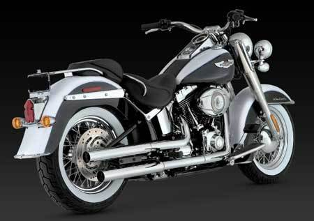 VANCE & HINES STRAIGHTSHOTS HS SLIP-ONS FOR HD SOFTAIL 07-UP
