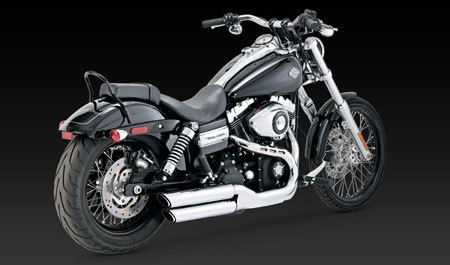VANCE & HINES TWIN SLASH 3-INCH SLIP-ON FOR HD DYNA 08-UP