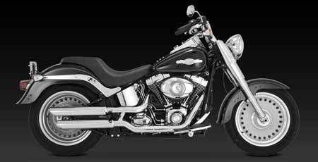 VANCE & HINES TWIN SLASH 3-INCH SLIP-ON FOR HD SOFTAIL 07-UP