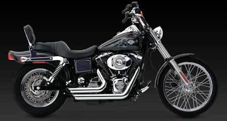 VANCE & HINES SHORTSHOTS STAGGERED FOR HD DYNA 91-05