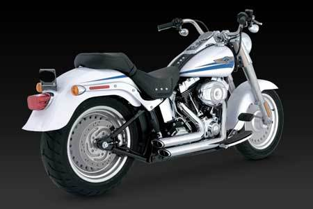 VANCE & HINES SHORTSHOTS STAGGERED FOR HD SOFTAIL 86-11