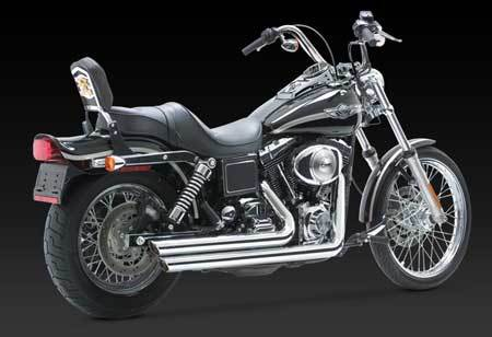 VANCE & HINES BIG SHOTS STAGGERED FOR HD DYNA 95-05