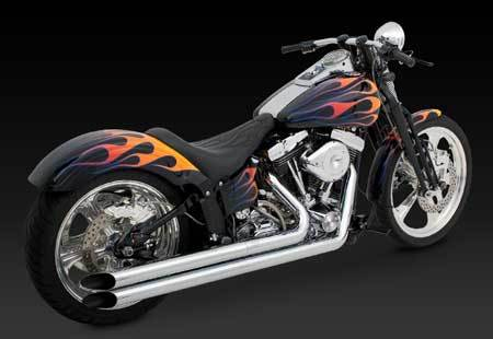 VANCE & HINES LONGSHOTS HS FOR HD SOFTAIL 86-06