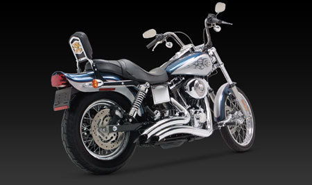 VANCE & HINES BIG RADIUS 2-INTO-2 FOR HD DYNA 91-05