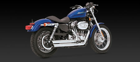 VANCE & HINES DOUBLE BARREL STAGGERED FOR HD SPORTSTER 04-UP