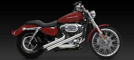 VANCE & HINES SIDESHOTS FOR HD SPORTSTER 04-UP