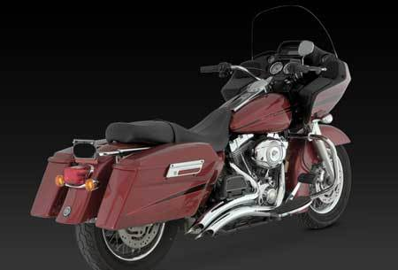 VANCE & HINES BIG RADIUS 2-INTO-2 FOR HD TOURING 07-08