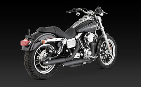 VANCE & HINES TWIN SLASH 3-INCH SLIP-ON FOR HD DYNA 91-UP