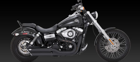 VANCE & HINES TWIN SLASH BLACK 3-INCH SLIP-ON FOR HD DYNA 08-UP