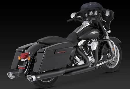 VANCE & HINES MONSTER OVAL, BLACK FOR HD TOURING 95-12