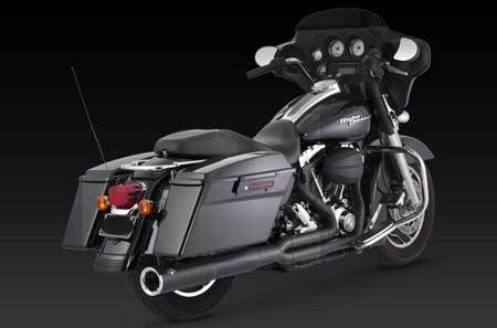 VANCE & HINES PRO PIPE HI-OUTPUT BLACK FOR HD TOURING 99-08