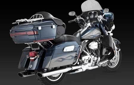 VANCE & HINES TWIN SLASH OVAL FOR HD TOURING 95-UP