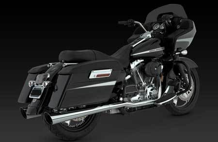 VANCE & HINES TAPERED SLASH-CUT SLIP-ON  FOR HD TOURING '95-'15