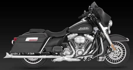 VANCE & HINES FISHTAIL SLIP-ONS FOR HD TOURING 1995-UP