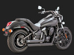 VANCE & HINES TWIN SLASH STAGGERED BLACK FOR KAWASAKI VULCAN 900 06-UP