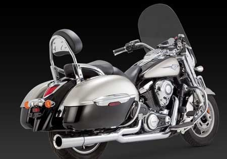 VANCE & HINES PRO PIPE CHROME FOR KAWASAKI VULCAN 1700 NOMAD, VAQUERO, VOYAGER 09-UP