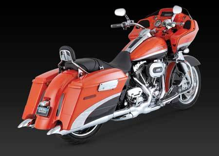 VANCE & HINES TURNDOWN SLIP-ON FOR HD TOURING 95-UP