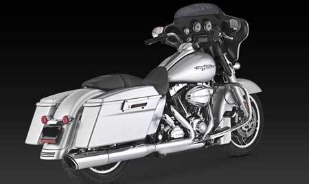 VANCE & HINES TWIN SLASH 2-INTO-1 SLIP-ON FOR HD TOURING 2010