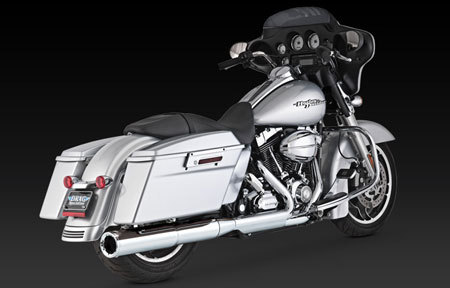 VANCE & HINES HI-OUTPUT SLIP-ON 2-INTO-1 FOR HD TOURING 2010