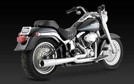 VANCE & HINES PRO PIPE CHROME FOR HD SOFTAIL 86-11