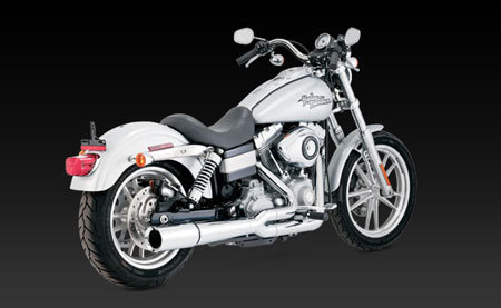 VANCE & HINES PRO PIPE CHROME FOR HD DYNA 06-11