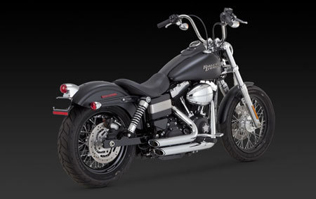 VANCE & HINES SHORTSHOTS STAGGERED FOR HD DYNA 12-UP
