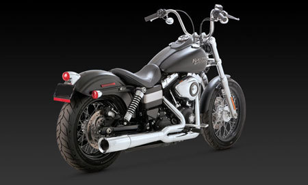 VANCE & HINES PRO PIPE CHROME FOR HD DYNA 12-UP