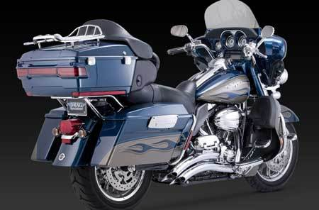 VANCE & HINES BIG RADIUS 2-INTO-2 FULL SYSTEM FOR HD TOURING 10-UP
